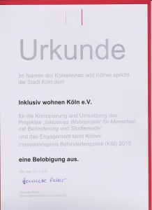 Urkunde-Innovationspreis