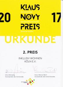 Urkunde Klaus-Novy-Preis 001